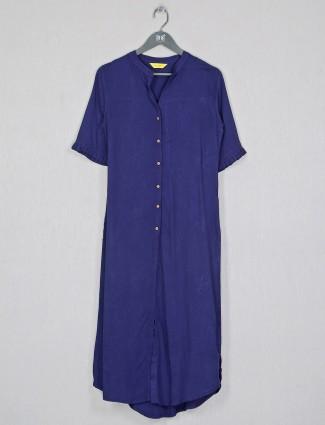 Cotton casual wear navy kurti for women