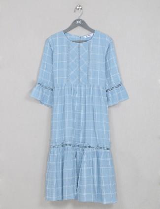 Cotton casual wear superb kurti in sky blue