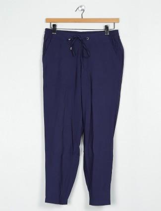 Cotton navy pyjama for gorgeous women