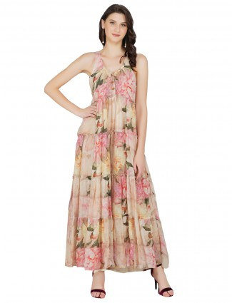 Cotton printed jumpsuit style casual wear dress in multi color