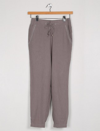 Cotton solid pyjama in grey