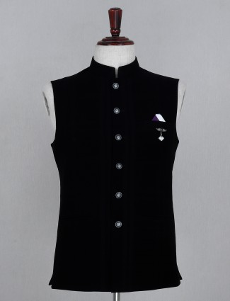 Cotton waistcoat in black checks