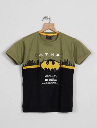 Danaboi printed green casual t-shirt in cotton