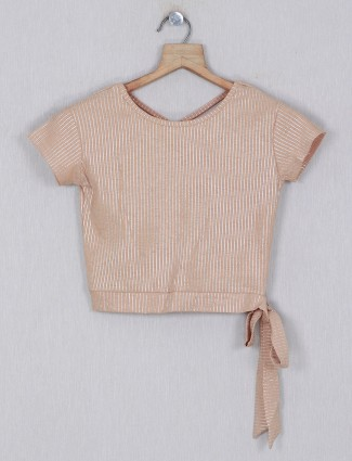 Deal brown stripe top for casual wear