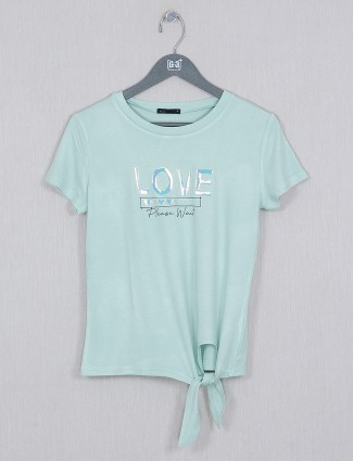 Deal green casual cotton top for women