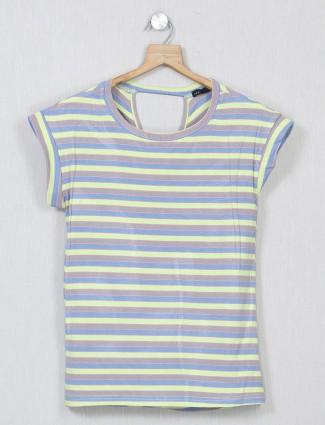 Deal multicolour striped top for women