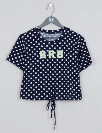 Deal navy cotton gorgeous casual wear top