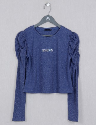 Deal new blue knitted top for women