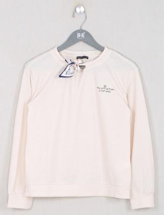 Deal peach shande cotton top for women
