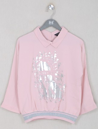 Deal pink shade georgette top for women