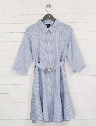 Deal sky blue stripe dress