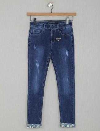 Deal solid blue denim jeans