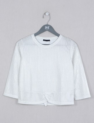 Deal white casual style top for women