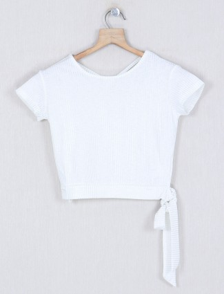Deal white stripecasual cotton top