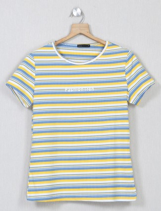 Deal white striped casual top