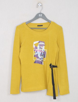 Deal yellow cotton casual wear top