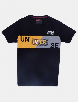 Deepee black casual t-shirt for mens