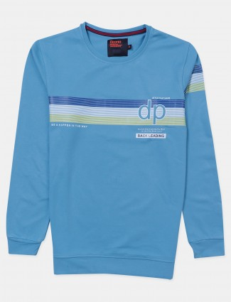 Deepee blue cotton printed t-shirt