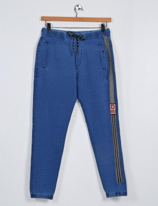 Deepee blue solid cotton payjama
