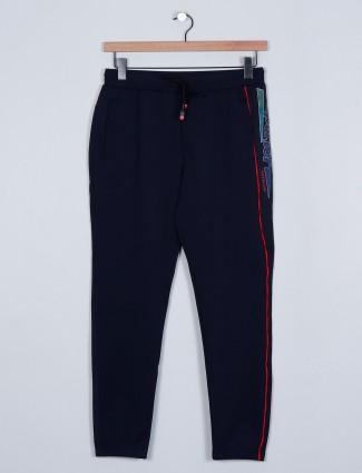 Deepee cotton slim fit trouser in black