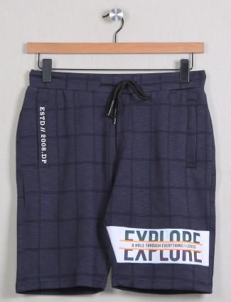 Deepee dark purple shade chexs style shorts