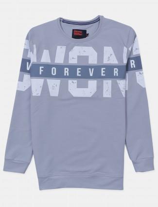 Deepee grey cotton casual t-shirt