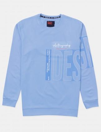 Deepee light blue cotton mens t-shirt