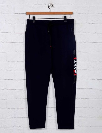Deepee navy cotton comfort fit track pant