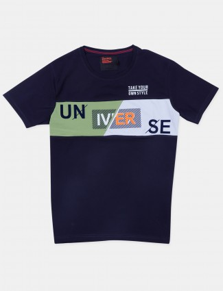 Deepee navy slim fit t-shirt for mens