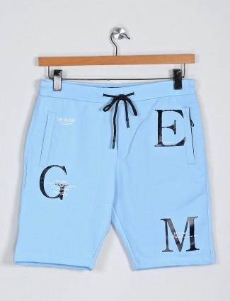 Deepee printed blue hued shorts