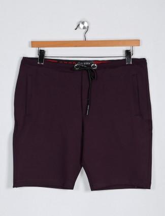 Deepee printed purple hued shorts