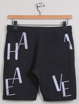 Deepee printed style black casual shorts in cotton