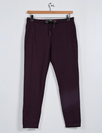 Deepee purple cotton track pant for mens