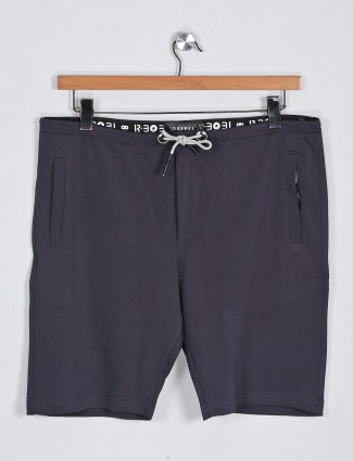Deepee solid black colored men shorts