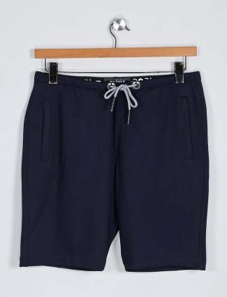 Deepee solid navy hue casual shorts