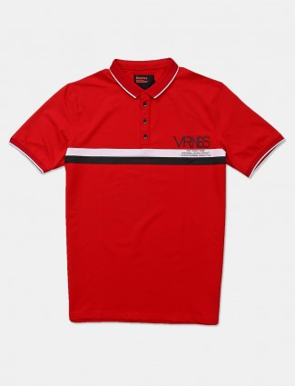 Deepee solid ref cotton polo t-shirt