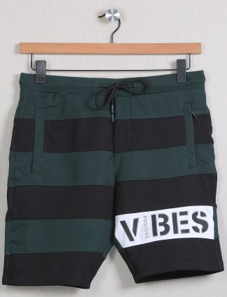 Deepee stripe style green and black short in cotton