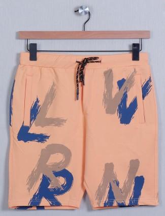 Deepee-tee orange hue printed short for men