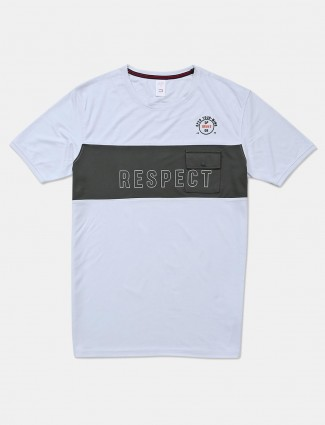 Deepee white printed cotton t-shirt
