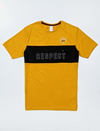 Deepee yellow printed t-shirt
