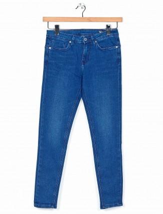 Desi Belle casual wear blue washed jeans