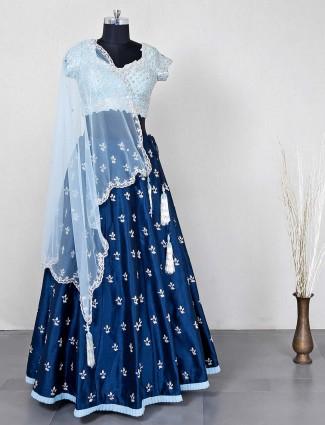 Designer blue lehenga choli for wedding