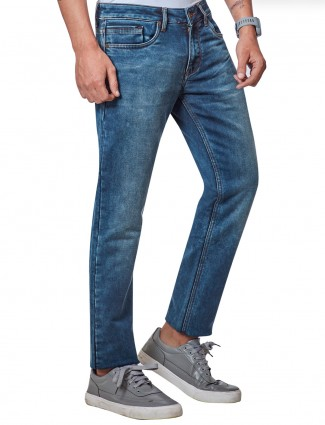 Dragon Hill blue denim washed slim fit new style jeans