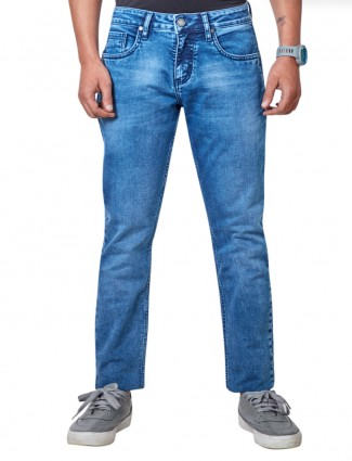 Dragon Hill blue solid casual slim fit jeans