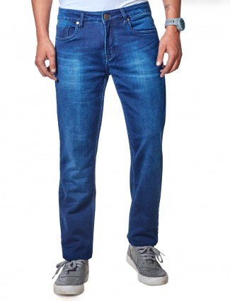 Dragon Hill blue washed casual slim fit jeans