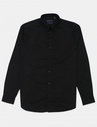 Dragon Hill cotton black solid casual shirt
