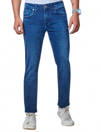 Dragon Hill fancy washed blue jeans