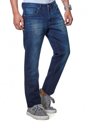 Dragon Hill navy washed slim fit mens jeans