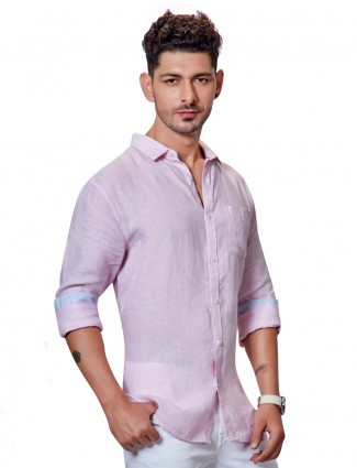 Dragon Hill presented linen pink shirt