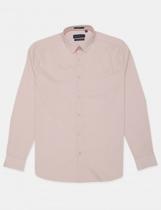Dragon Hill presented solid baby pink casual shirt
